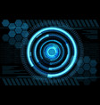 blue energy design screen modern futuristic vector image