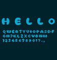 blue font template simple design vector image