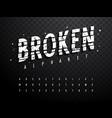 broken alphabet 001 vector image vector image