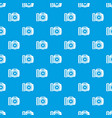 camera pattern seamless blue vector image vector image