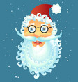 cartoon santa claus smile happy face vector image vector image