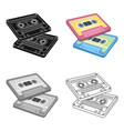 cassettes for tape recorderhippy single icon in vector image vector image