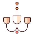 chandelier linecolor vector image