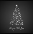 christmas tree from stars on black background vector image vector image
