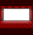 cinema hall vector image vector image
