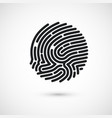 circle ink fingerprint icon design for vector image vector image