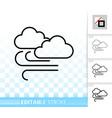cloud simple black line icon vector image vector image