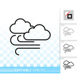 cloud simple black line icon vector image