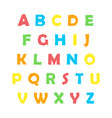 color english alphabet vector image vector image