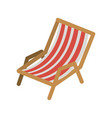color silhouette of beach chair vector image