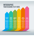 colorful business infographic with rising bars vector image