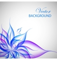 Colorful violet flower vector image vector image