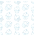 Cream cake seamless white pattern vector image