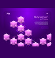 cryptocurrency and blockchain isometric vector image vector image