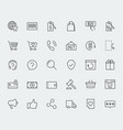 e-commerce and online shopping related icon set vector image