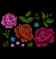 embroidery peonies ethnic ornament vector image vector image
