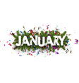 festive january banner with colorful serpentine vector image vector image