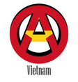 flag of vietnam of the world in the form of a vector image vector image