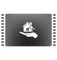 flat paper cut style icon of home and keys vector image vector image