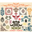 floral heraldry elements vector image vector image
