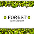 forest green line art trees background vector image