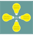 Four yellow light bulb Idea concept Business vector image