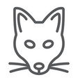 fox line icon animal and zoo vector image vector image