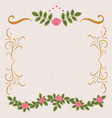 frame vintage decor vector image