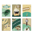 Freshwater Fishing 6 Posters Prints Collection vector image vector image