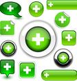 Green cross signs vector image vector image