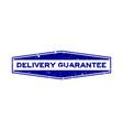 grunge blue delivery guarantee word hexagon vector image vector image