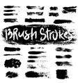 Grunge brush strokes set vector image