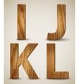 Grunge Wooden Alphabet Letters I J K L vector image vector image