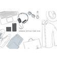 hand drawn doodle flat lay vector image vector image