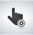 hand mouse cursor with settings gear icon in the vector image vector image