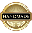 Handmade Gold Label vector image