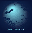 haunted happy halloween banner with bats vector image