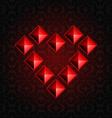 Heart Pyramids vector image