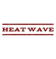 Heat Wave Watermark Stamp vector image vector image