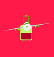 icon airplane and suitcase travel and vacation vector image