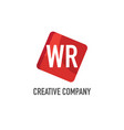 initial letter wr logo template design vector image vector image