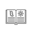 knowledge virology thin line icon vector image vector image