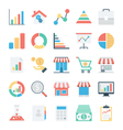 Market and Economics Colored Icons 1 vector image vector image