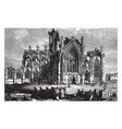 melrose abbey 12th century vintage engraving vector image vector image