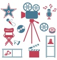 Movie and music icons vector image