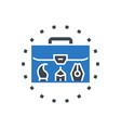 portfolio demonstration glyph icon vector image vector image