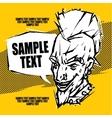 Punk rock concert poster flyer ticket vector image vector image