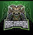 ragnarok esport mascot logo design vector image vector image