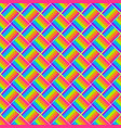 rainbow mosaic seamless pattern vector image vector image