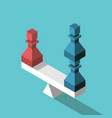 red blue pawns balance vector image vector image